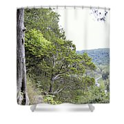 Yellow River Shower Curtain