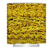 Yellow Rope Stack Shower Curtain