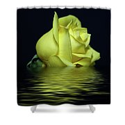 Yellow Rose II Shower Curtain by Sandy Keeton