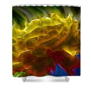 Yellow Rose Series - Colorful Fractal Shower Curtain