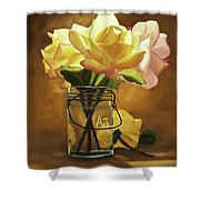 Yellow Roses Shower Curtain