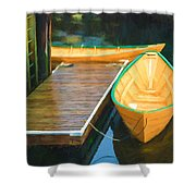 Yellow Rowboats Shower Curtain