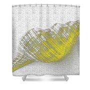 Yellow Seashell Shower Curtain