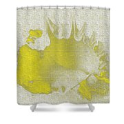 Yellow Shell Shower Curtain