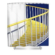 Yellow Steps 2 Shower Curtain