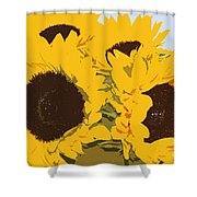 Yellow Sunflowers Shower Curtain
