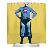 Yellow Superman Shower Curtain