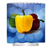 Yellow Sweet Pepper - Square - Textured Shower Curtain