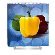 Yellow Sweet Pepper - Textured Shower Curtain
