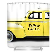 Yellow Taxi Cab Shower Curtain