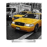 Yellow Taxi Color Pop Shower Curtain