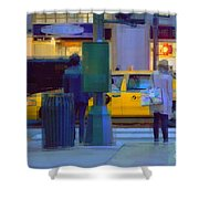 Yellow Taxi Shower Curtain