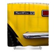 Yellow Triumph Spitfire Shower Curtain