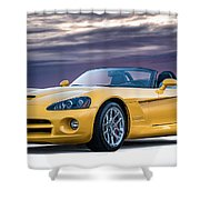 Yellow Viper Convertible Shower Curtain