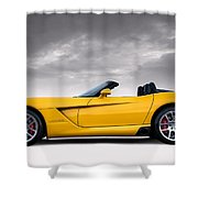 Yellow Viper Roadster Shower Curtain