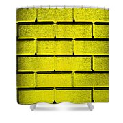 Yellow Wall Shower Curtain