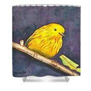 Yellow Warbler II Shower Curtain