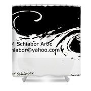 Yellow Wave Abstract Shower Curtain