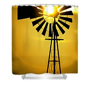 Yellow Wind Shower Curtain