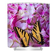 Yellow Wings Shower Curtain