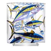 Yellowfin Run Shower Curtain