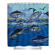 Yellowfin Run Off002 Shower Curtain