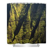 Yellows And Greens  Shower Curtain
