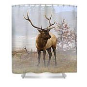 Yellowstone Bull Elk Shower Curtain