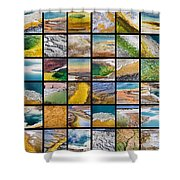 Yellowstone Colors Shower Curtain