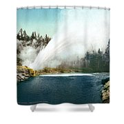 Yellowstone Geyser, C1905 Shower Curtain