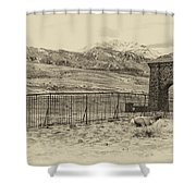 Yellowstone Grand Entrance Shower Curtain