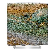 Yellowstone Living Thermometer Abstract Shower Curtain