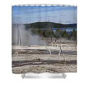 Yellowstone National Park - Hot Springs Shower Curtain