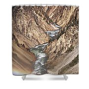 Yellowstone National Park Montana  3 Panel Composite Shower Curtain