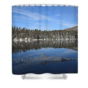 Yellowstone National Park - Mountain Lake Shower Curtain