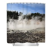 Yellowstone National Park - Mud Pots Shower Curtain
