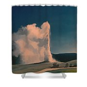 Yellowstone -- Old Faithful Vintage Shower Curtain