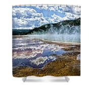 Yellowstone - Springs Shower Curtain