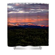 Yellowstone Sunset Shower Curtain