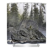 Yellowstone - The Rock Tree Shower Curtain
