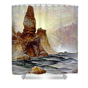 Yellowstone Tower Falls Shower Curtain