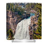 Yellowstone Upper Falls Shower Curtain