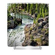 Yellowstone - Upper Falls Shower Curtain