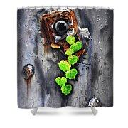 Yesterday - Now Shower Curtain by Jurek Zamoyski