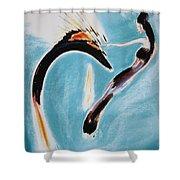 Yin Calming Yang Shower Curtain