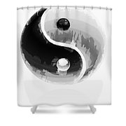 Yin Yang 2 Shower Curtain