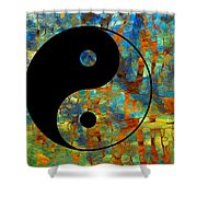 Yin Yang Abstract Shower Curtain