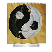 Yin Yang  Generations Hand In Hand Shower Curtain