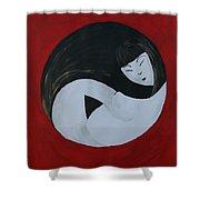 Yin Yang Maternity Shower Curtain