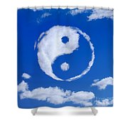Yin-yang Symbol Made Of Clouds Shower Curtain